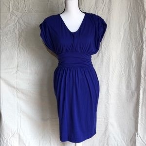 Mossimo ruched batwing dress w/sash purple S